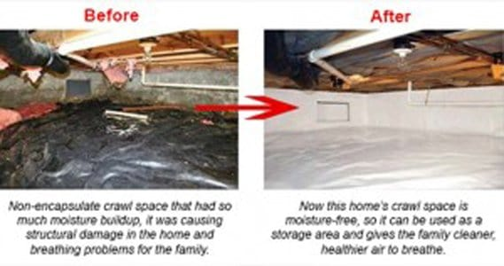 10 Steps To A Mold and Moisture Free Crawl Space