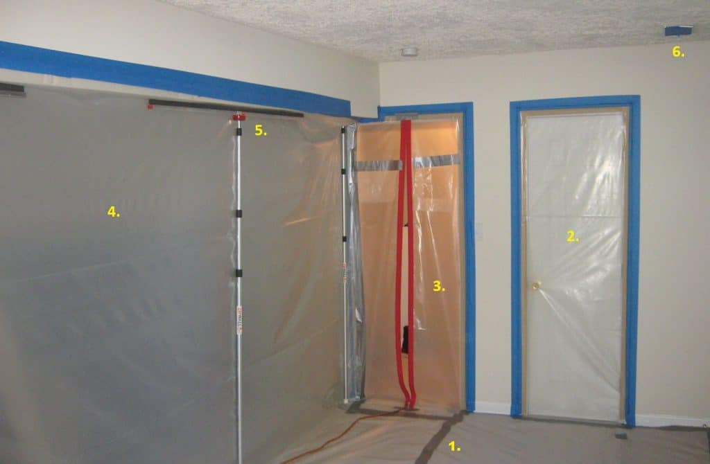 mold remediation containment barrier done right