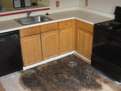 2. Mold Remediation - Mold Removal In Kitchen - Floor Removed - Clifton VA (During)