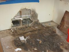 3. Mold Remediation - Mold Removal In Kitchen - Removed Cabinets - Clifton VA (During)